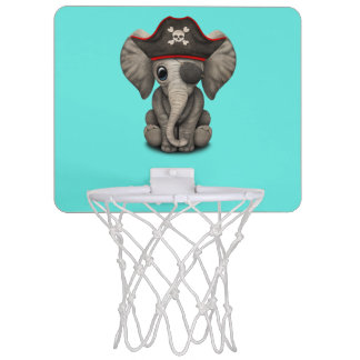 Cute Baby Elephant Pirate Mini Basketball Backboard
