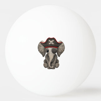 Cute Baby Elephant Pirate Ping Pong Ball
