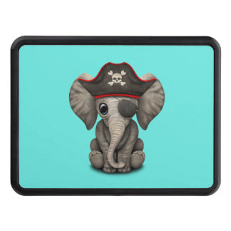 Cute Baby Elephant Pirate Trailer Hitch Cover