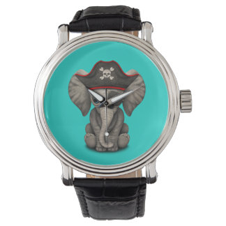 Cute Baby Elephant Pirate Watch