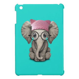 Cute Baby Elephant Wearing Pussy Hat Case For The iPad Mini