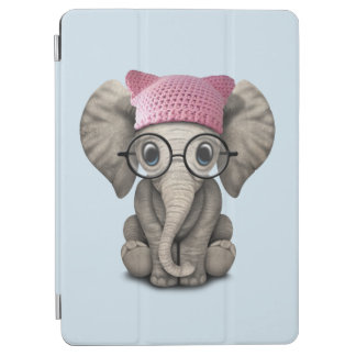 Cute Baby Elephant Wearing Pussy Hat iPad Air Cover