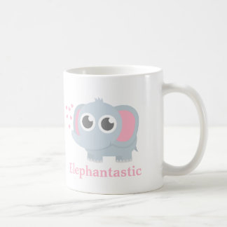 Cute Baby Elephant With Love For Girls Coffee Mug