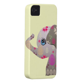Cute baby elephant with pattern iPhone 4 cover