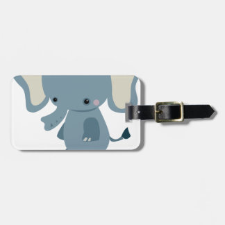 Cute baby eleplant luggage tag
