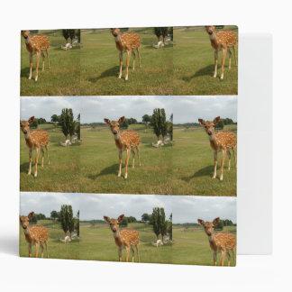 Cute Baby Fawn Deer 3 Ring Binder