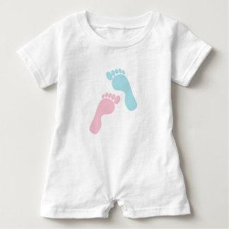 Cute Baby Feet Baby Romper