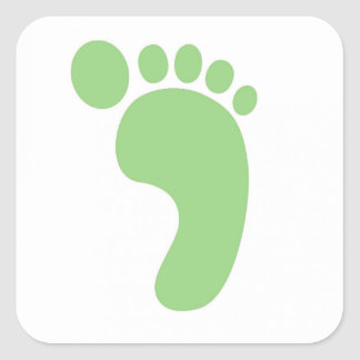 Cute Baby Feet Square Sticker