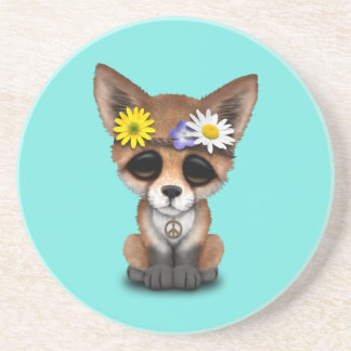 Cute Baby Fox Hippie Coaster