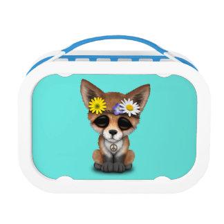 Cute Baby Fox Hippie Lunch Box