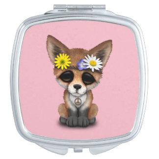Cute Baby Fox Hippie Makeup Mirrors