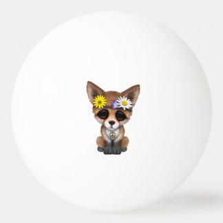 Cute Baby Fox Hippie Ping Pong Ball