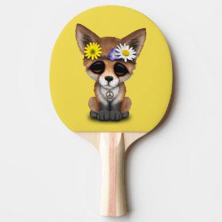 Cute Baby Fox Hippie Ping Pong Paddle