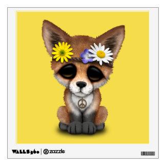 Cute Baby Fox Hippie Wall Sticker