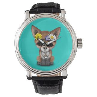 Cute Baby Fox Hippie Watch
