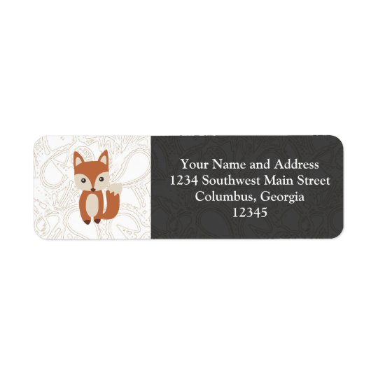 Cute Baby Fox Return Address Label