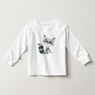 Cute baby Fox Watercolors Illustration Toddler T-shirt