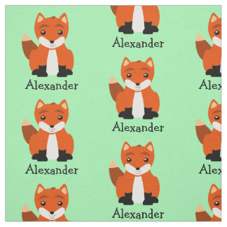 Cute Baby Foxes Fabric