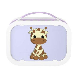Cute baby giraffe cartoon girl lunch boxes