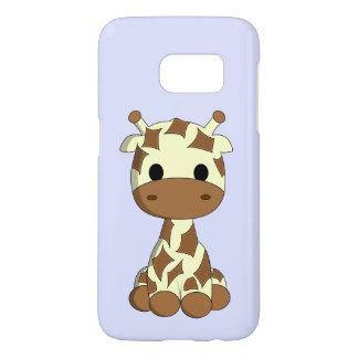 Cute baby giraffe cartoon kids samsung galaxy s7 case