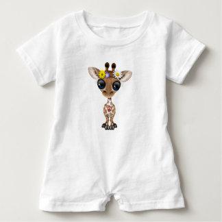 Cute Baby Giraffe Hippie Baby Romper