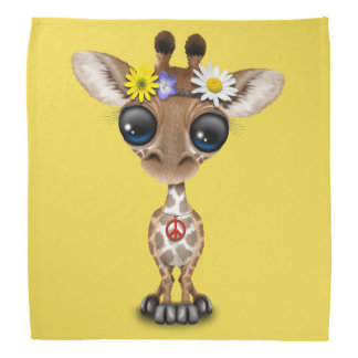 Cute Baby Giraffe Hippie Bandana