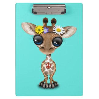 Cute Baby Giraffe Hippie Clipboards