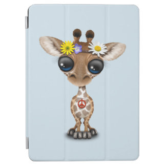 Cute Baby Giraffe Hippie iPad Air Cover