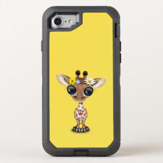 Cute Baby Giraffe Hippie OtterBox Defender iPhone 8/7 Case