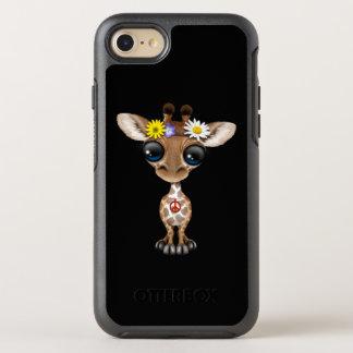 Cute Baby Giraffe Hippie OtterBox Symmetry iPhone 8/7 Case