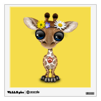 Cute Baby Giraffe Hippie Wall Sticker