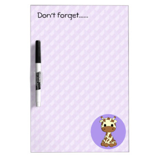 Cute baby giraffe kawaii cartoon kids dry erase board