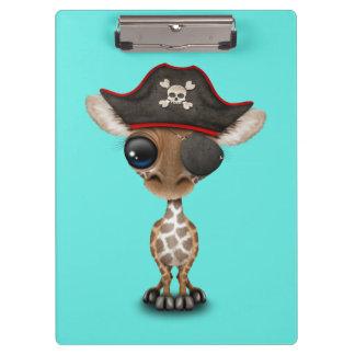 Cute Baby Giraffe Pirate Clipboards