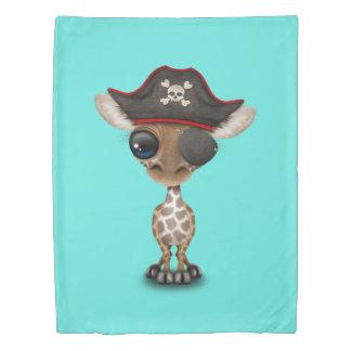 Cute Baby Giraffe Pirate Duvet Cover