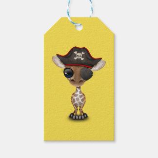 Cute Baby Giraffe Pirate Gift Tags