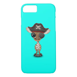 Cute Baby Giraffe Pirate iPhone 8/7 Case