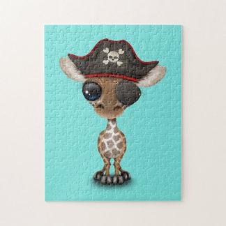 Cute Baby Giraffe Pirate Jigsaw Puzzle