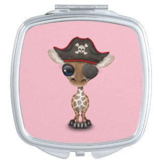 Cute Baby Giraffe Pirate Makeup Mirror