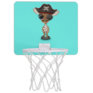 Cute Baby Giraffe Pirate Mini Basketball Hoop