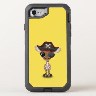 Cute Baby Giraffe Pirate OtterBox Defender iPhone 8/7 Case