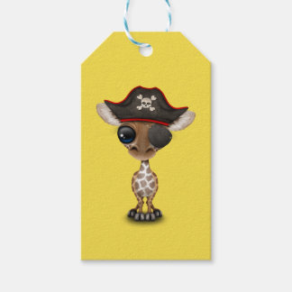 Cute Baby Giraffe Pirate Pack Of Gift Tags