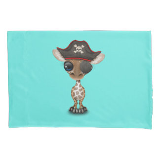 Cute Baby Giraffe Pirate Pillowcase