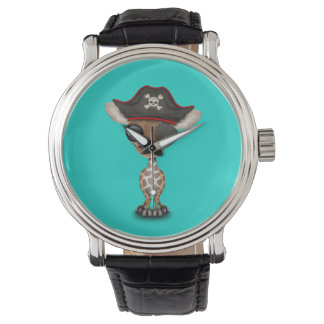 Cute Baby Giraffe Pirate Watch