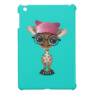 Cute Baby Giraffe Wearing Pussy Hat Case For The iPad Mini