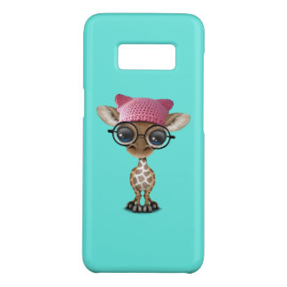 Cute Baby Giraffe Wearing Pussy Hat Case-Mate Samsung Galaxy S8 Case