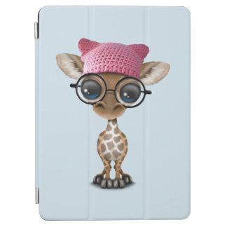 Cute Baby Giraffe Wearing Pussy Hat iPad Air Cover