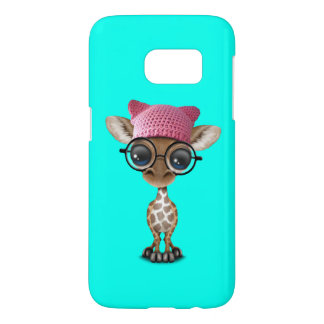 Cute Baby Giraffe Wearing Pussy Hat Samsung Galaxy S7 Case