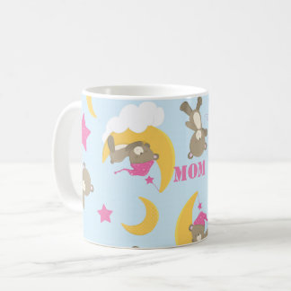 Cute Baby Girl Bear Pattern Print Personalized Coffee Mug