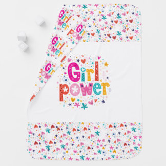 Cute Baby Girl Power Blanket