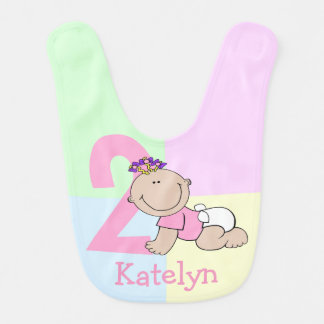 Cute Baby Girl Second Birthday Bib